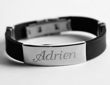 Name Bracelet - ADRIEN - Gift For Him Silicone Custom Made Personalised Present