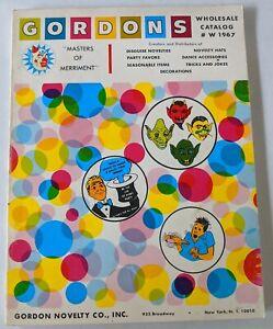 GORDON'S Novelty Mask Joke Trick Catalog Winter 1967 230p 1966