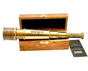 Vintage Pirate Telescope Antique 46.5 cm Hand Extending Naval Dollond London