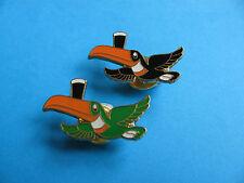 2, Guinness Flying Toucan Pin badges. VGC. Unused. One pint on beak.