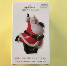Hallmark Keepsake Santa Claus Is Coming To Town Magic Ornament New