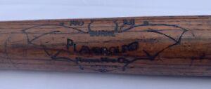 "Antique 1920s Burke Wood ""Bat"" Logo Baseball Bat - Hanna Mfg. Co. - No. M - 32"""