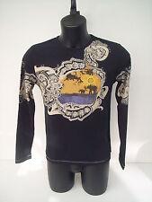 T-shirt Roberto Cavalli,colore nero,disegno elefante, tg 46