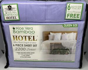 Queen Sheet Set Bamboo Hotel Brand Deep Pocket Ultra Soft Wrinkle Free Lavender