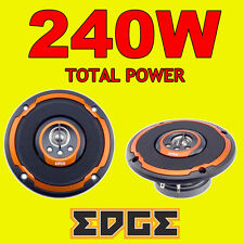 EDGE 240W TOTAL 4 INCH 10cm 4-WAY CAR VAN DOOR/SHELF COAXIAL SPEAKERS NEW ORANGE