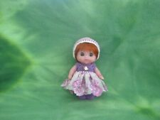 """BERENGUER 5.5"""" LIL CUTESIES BABY DOLL + CROCHET LACE CLOTHING KEMPER MOHAIR WIG"""