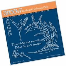 Clarity Stamps Groovi Parchment Embossing Plate - Lily Of The Valley FREE UK P&P