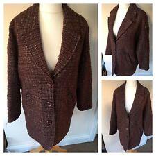 Rare Korean Brand THURSDAY ISLAND Oversized Coat / Jacket Size S Uk  10-12 Wool