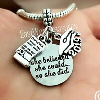 2019 Graduation hat diploma jewelry gift charm bracelet necklace pendant her