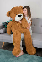 LARGE 155CM TEDDY BEAR GIANT PLUSH ENORMOUS TOY SITTING LYING CHRISTMAS PRESENT