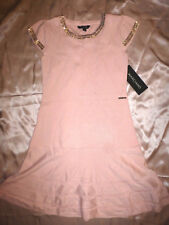 Marciano GUESS Girl`s Sweater Studded pink ruffled Dress sz-12