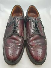 British Walkers Men's 8D US Wingtip Cordovan Leather Dress Shoes USA