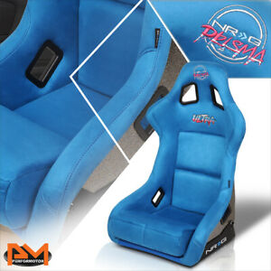 NRG Innovations FRP-302BL-ULTRA Prisma Fixed Back Large Size Racing Seat Blue