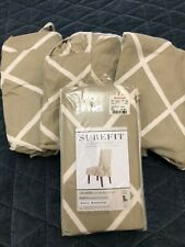 Chair Slipcover Armless Tan Set of 4