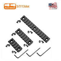 "3X Keymod Picatinny Weaver Rail Section Aluminum 5 7 13 Slot 2"" 3"" 5"" US"