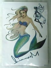 Tatouage temporaire sexy sirène pinup mermaid  couleur fée original tattoos