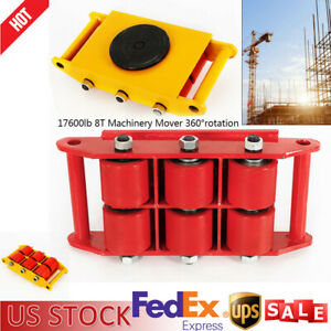 1Pc Machine Dolly Skate Machinery Roller Mover Cargo Trolley 17600lbs/8 Ton