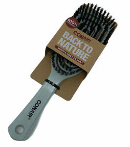 Conair Back To Nature Smooth and Shine Flexi Head Hair Brush Soft Bristle