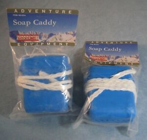 NIP Set of 2 Soap Caddy- Camping-Gym-Beach Etc.-Stansport-Plastic w/ Rope