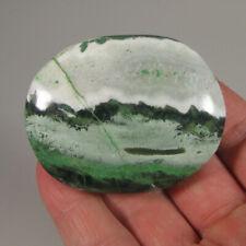 """2.4"""" GREEN SARDONYX Gemstone Polished Palm Stone - India"""