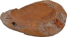30cm Solid Teak Wooden Bowl Rustic Finish Wood Fruit Bowl Pot Pouri Display Bowl