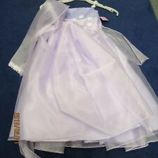 LIWonda flower girl dress size 3T shades of Lilac with scarf, new w/tags