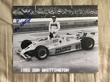 Don Whittington Indy 500 Signed 8 X 10 Photo  Autographed Indianapolis
