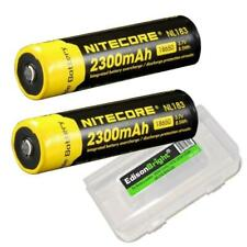 2 X Nitecore 2300mAh 18650 Protected Rechargeable Batteries NL183 NL1823 w/case