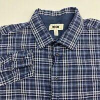 Joseph Abboud Button Up Shirt Men's Size 2XL XXL Long Sleeve Blue White Plaid