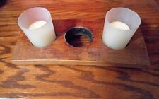 Jack Daniels Barrel  stave candle holder with bung hole