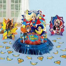 23 Piece DC Super Hero Girls Supergirl Children's Party Table Decorating Kit