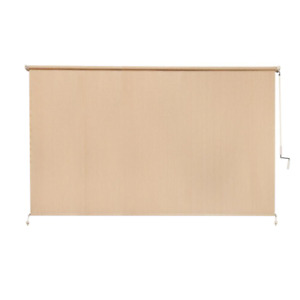 Coolaroo Roller Shade 120 in. x 72 in. Stain Resistant Textured Fabric Beige