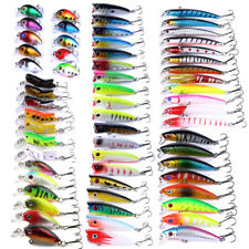 62pcs/Lot Mixed Fishing Lures Locust Minnow Hard Bait Crankbait Bass Tackle New