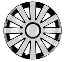 4x Premium Diseño Tapacubos pintado 14 Pulgadas Ónice Negro Blanco
