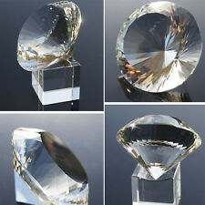 Clear Crystal Cut Glass Paperweight Wedding Jewelry Artificial Diamonds