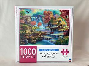 Country House by the Waterfall 1000 Piece Jigsaw Puzzle 68.5cm x 50.5cm