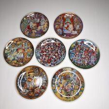 New listing Bill Bell Cat Collector Plates Lot Franklin Mint Christmas Halloween Pillsbury