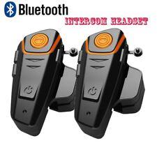 BT-S2 1000M Intercom Casque de moto Bluetooth Casques Interphone FM Radio x2