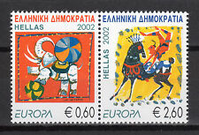 Greece. Europa Cept Year 2002, CIRCUS, Greek MNH Se-tenant stamps in Euros.