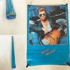 """Vintage George Michael Poster 32"""" X 22"""" Rare New! Sealed!"""