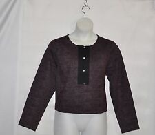 Styled by Joe Zee Printed Knit Jacket Size 20W Wine