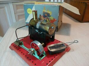 Mamod Stationary Steam Engine (Boxed) with miniature grinding machine, excel con
