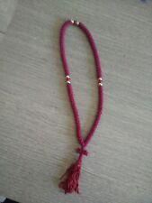 100 Knot Prayer Rope Chotki Greek Russian Christian Orthodox RED Mount Athos