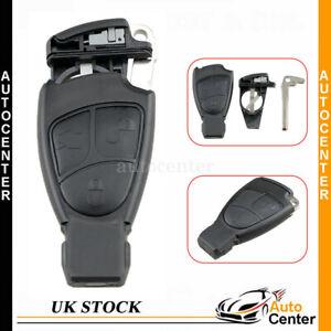 For MERCEDES BENZ R C E S ML CL CLK CLS SLK 3 Button Remote Key Fob Case + Blade