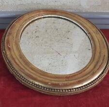 specchio ovale xix cornice dorata mirror