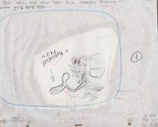 REN & STIMPY Original Production Cel Cell Drawing 90's Animation Art Egg Yolkeo
