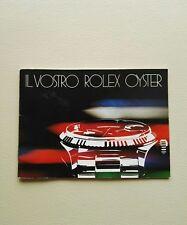 BOOKLET IL VOSTRO ROLEX OYSTER ANNO 1982 ITA