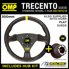 AUDI TT MK1 ALL 98-06 OMP TRECENTO 300mm SUEDE LEATHER STEERING WHEEL & HUB KIT