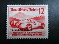 Germany Nazi 1939 Stamps MNH Overprint Racing cars Automobiles Third Reich Deuts