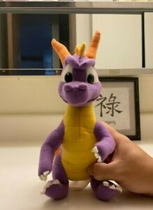 """Spryo The Dragon Spyro Plush 8"""" Toy for kids/collectors Used 2001 Washable"""